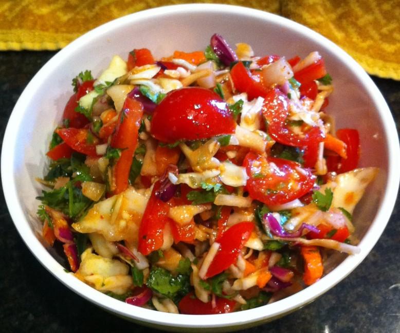 spicy cilantro slaw