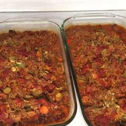 Veg lasagna baked