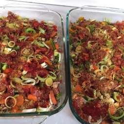 veg lasagna precook