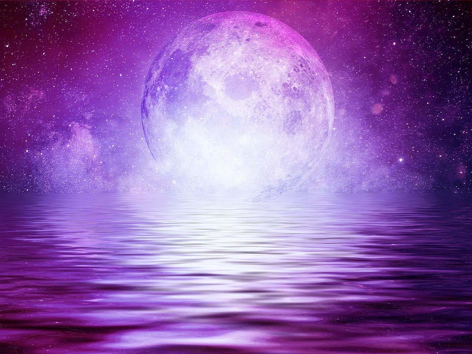 purple full moon