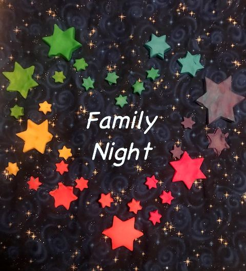 Family Night rainbow stars
