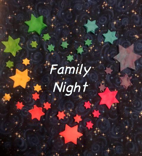 Family Night rainbow stars